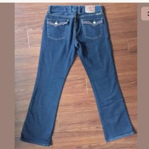 LUCKY BRAND Lola Bootleg Embroidered Jeans 12